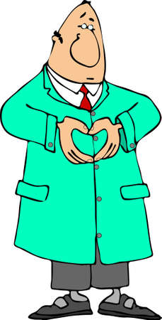 Doctor making a heart sign with his hands photo