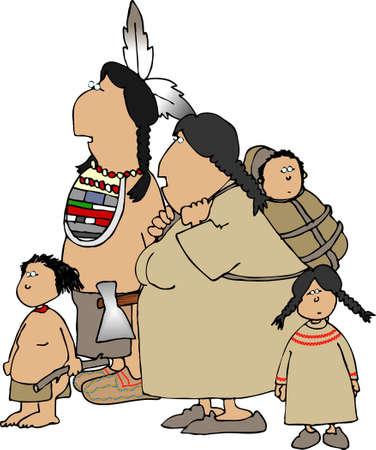 lass: Indian family Stock Photo