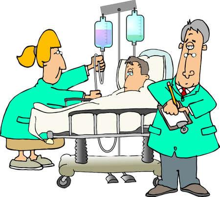 Paciente y doctores Foto de archivo - 376138