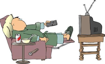 ver television: Mirar televisi�n