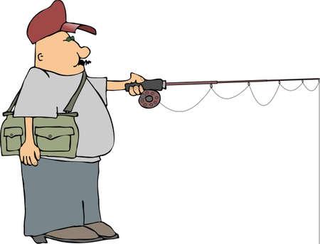 fishing pole: Flyfishing