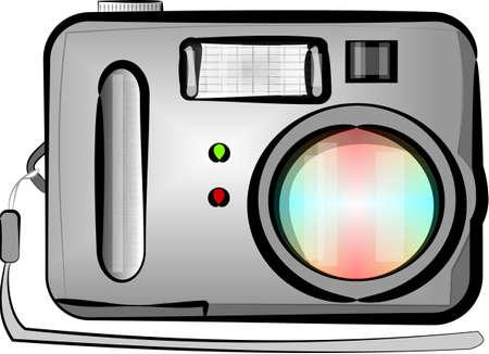 point and shoot: Punto digital y disparar la c�mara Foto de archivo