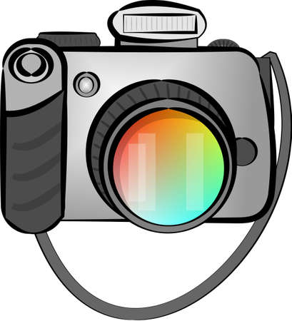 Digital SLR camera Stock Photo