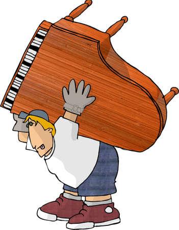 Piano mover photo
