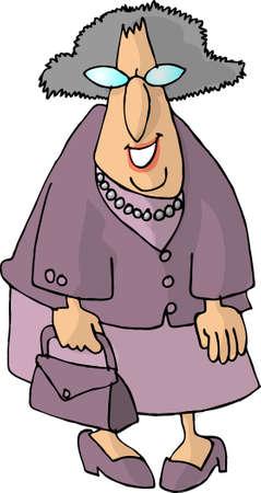 Alte Frau  Standard-Bild - 401416