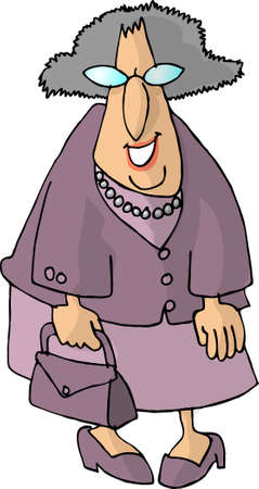 old people: Old woman