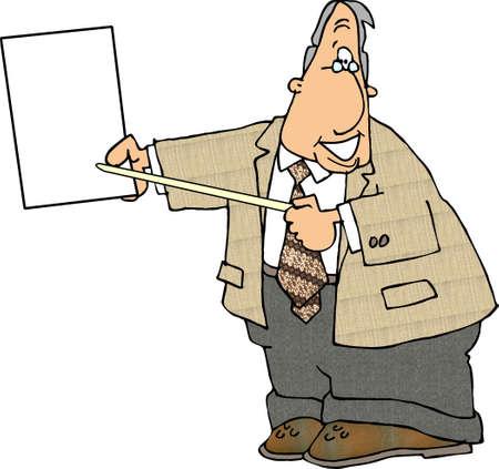 Man witha  blank sigm photo