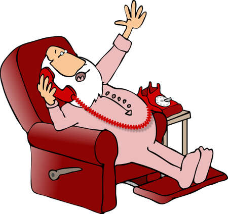 st  nick: Santa in a recliner