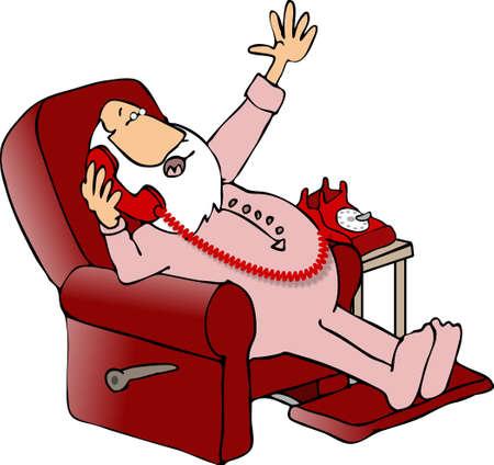 pajama: Santa in a recliner