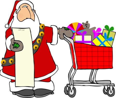 Santa shopping photo