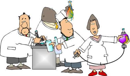 Four scientists photo