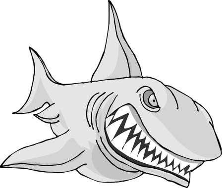 dorsal: Angry shark Stock Photo