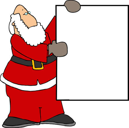 nick: Santa with a blank sign
