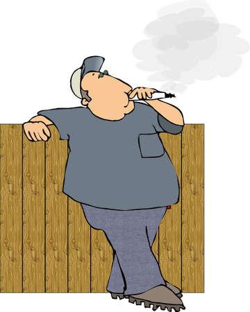 Man smoking a cigarette Stock Photo - 402831