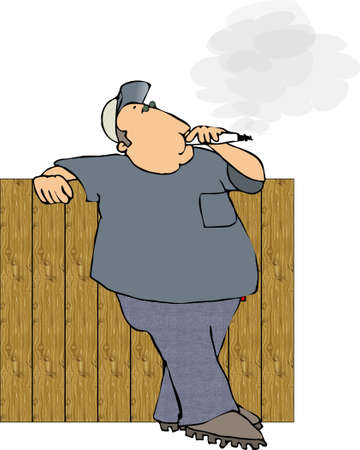 Man smoking a cigarette Stock Photo - 402831