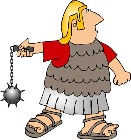 Roman soldier with ball & chain photo