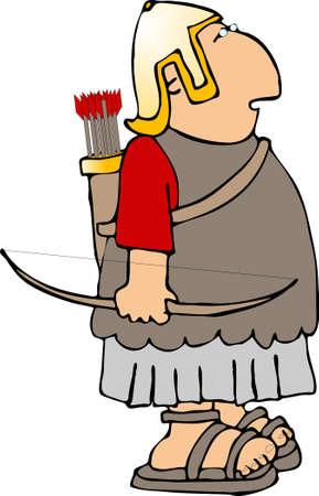 Roman archer photo