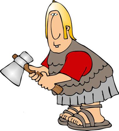 hatchet man: Roman soldier with an axe