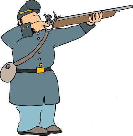 American civil war soldier Stok Fotoğraf