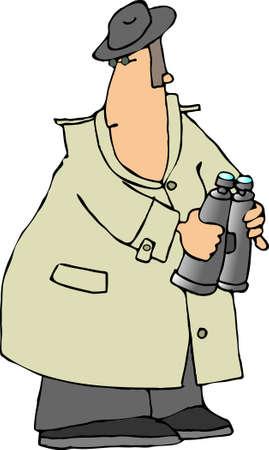 Man with binoculars Zdjęcie Seryjne
