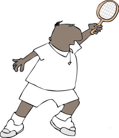 raquet: Tennis player Stock Photo