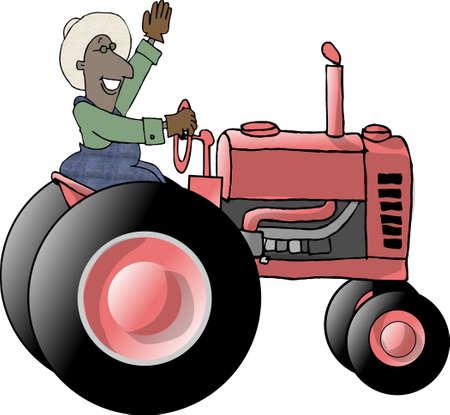 Tractor farmer photo
