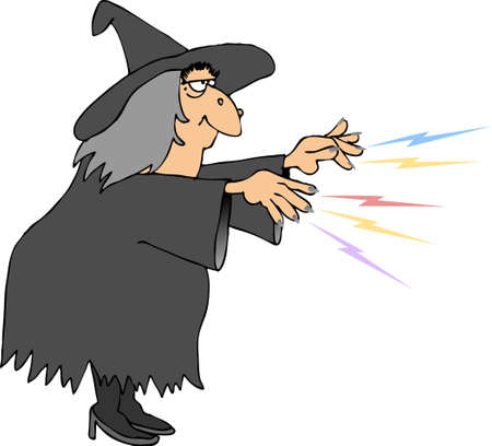 cast: Witch casting a spell