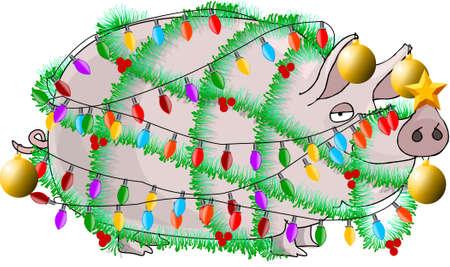 fat pigs: Christmas ham