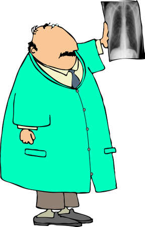 Doctor looking at an xray Stock Photo - 402791