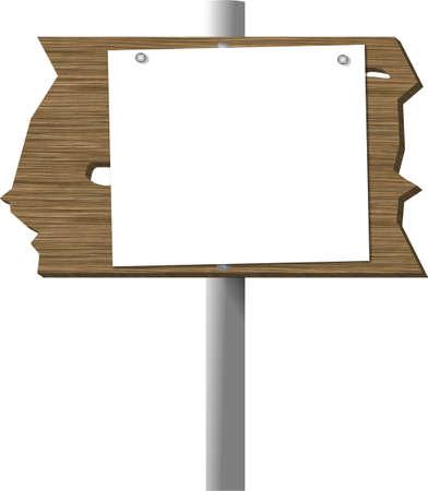knothole: Blank sign on a cedar plank