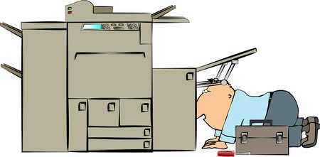 copy machine: Copy machine repairman