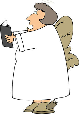 Singing angel photo