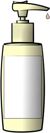 pumper: Lotion bottle with blank label