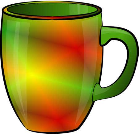 Multi-colored coffee cup Stock fotó