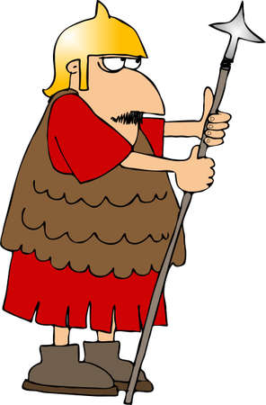 Roman soldier with a spear