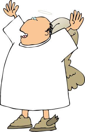 angel illustration: Singing angel