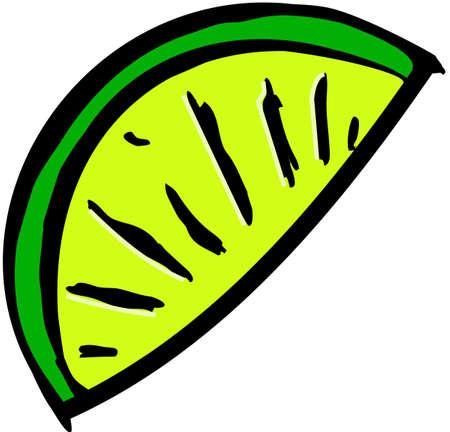Slice of lime Reklamní fotografie