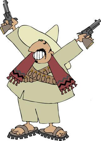 Mexican bandito Stock Photo