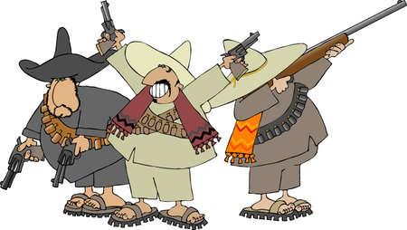 Three Mexican banditos photo