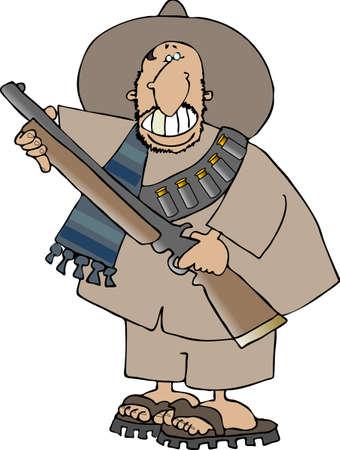 bandits: Mexican bandito Stock Photo