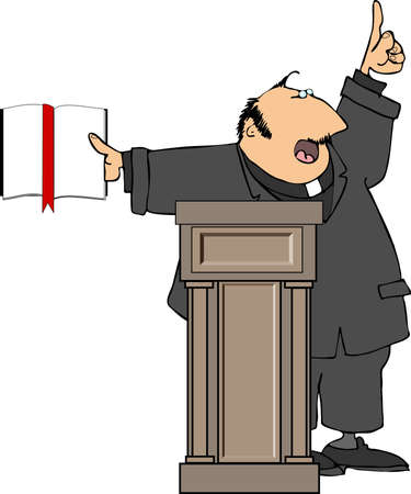 predicador: Predicador  Foto de archivo