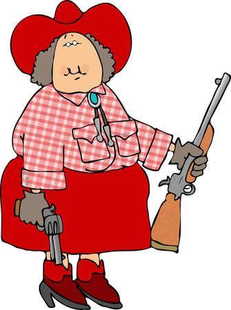 lady cartoon: Cowgirl