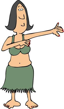 Hula girl photo