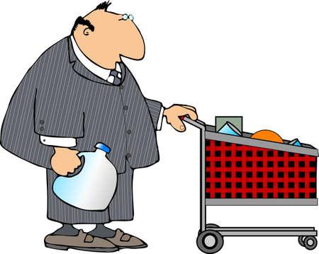 쇼핑 사업가 스톡 콘텐츠