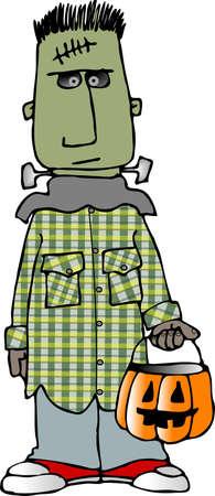 Frankenstein costume Standard-Bild