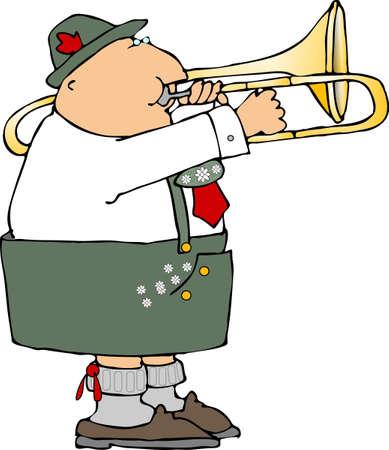 trombón: Tromb�n jugador alem�n