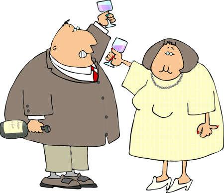 lass: A couple drinking wine