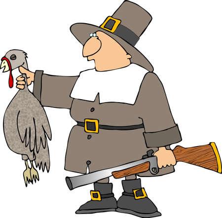 musket: Pilgrim Stock Photo