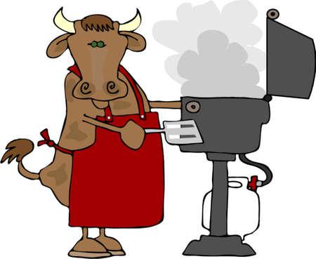 BBQ Beef Illustration
