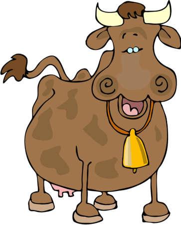 Happy cow Ilustrace